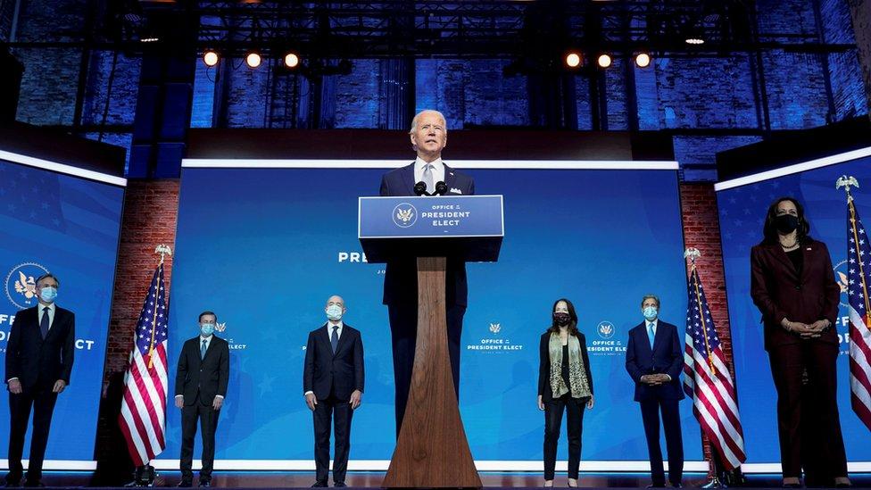 الرئيس المنتخب جو بايدن يعلن ترشيحاته لبعض أعضاء فريق إدارته