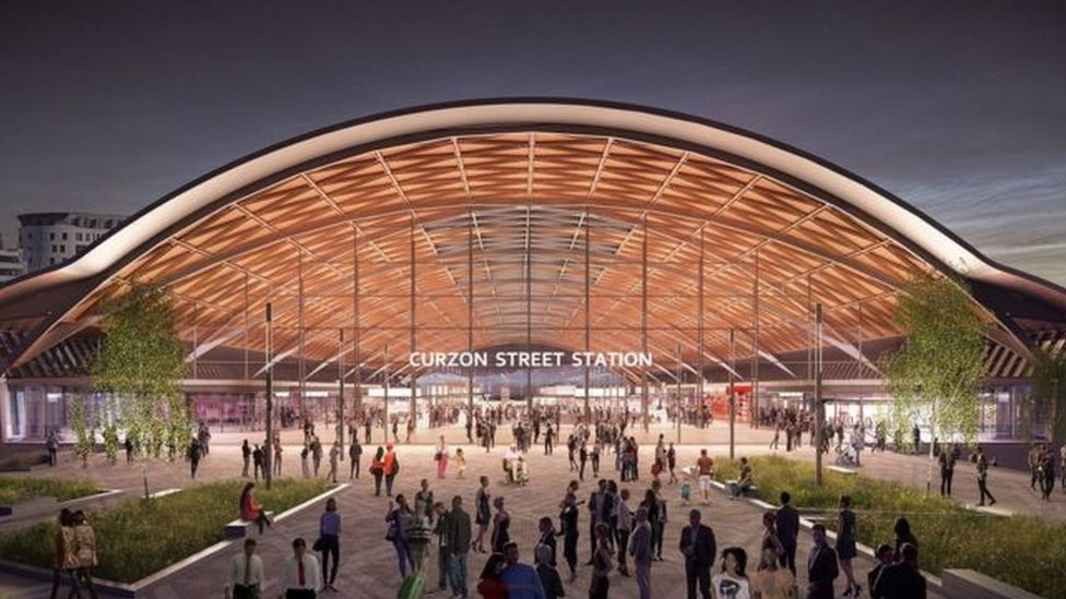 An artist impression of the new Curzon Street station