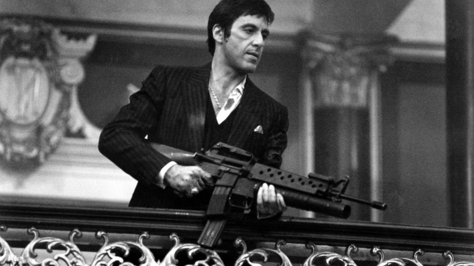 Actor Al Pacino stars in Scarface