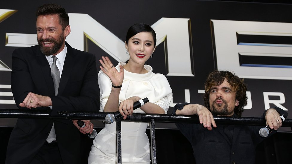 Fan Bingbing en una presentación de X-Men.