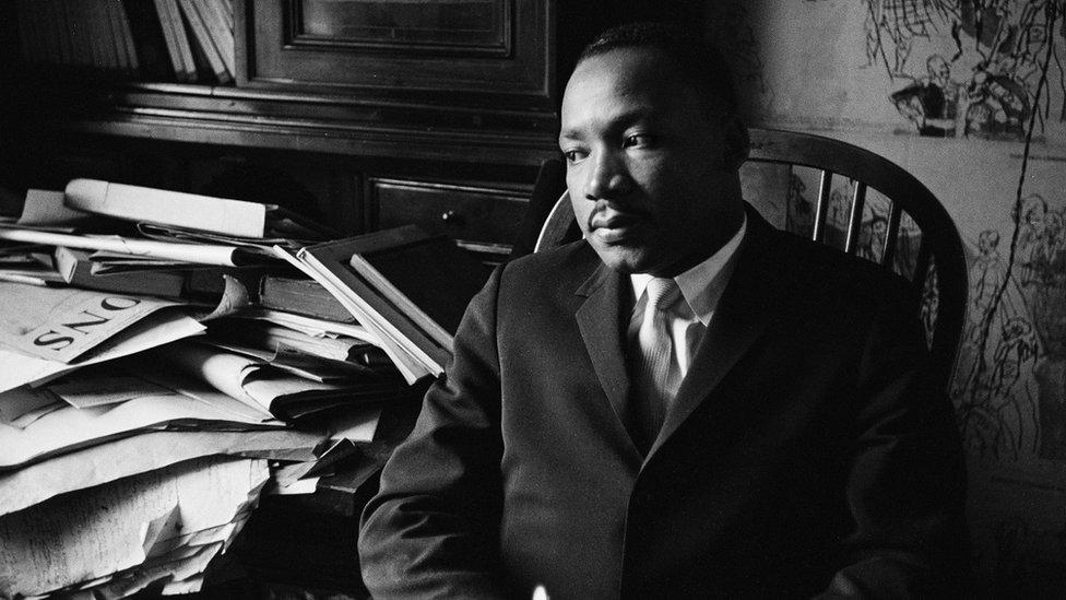 Martin Luter King uoči razgovora za BBC u oktobru 1961.