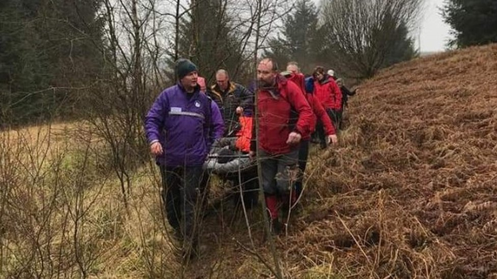 Moffat Mountain Rescue Team called out after axe injury