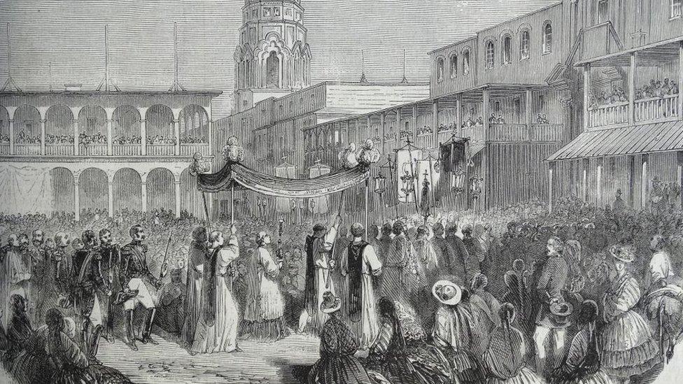 Grabado de Lima a fines de 1839