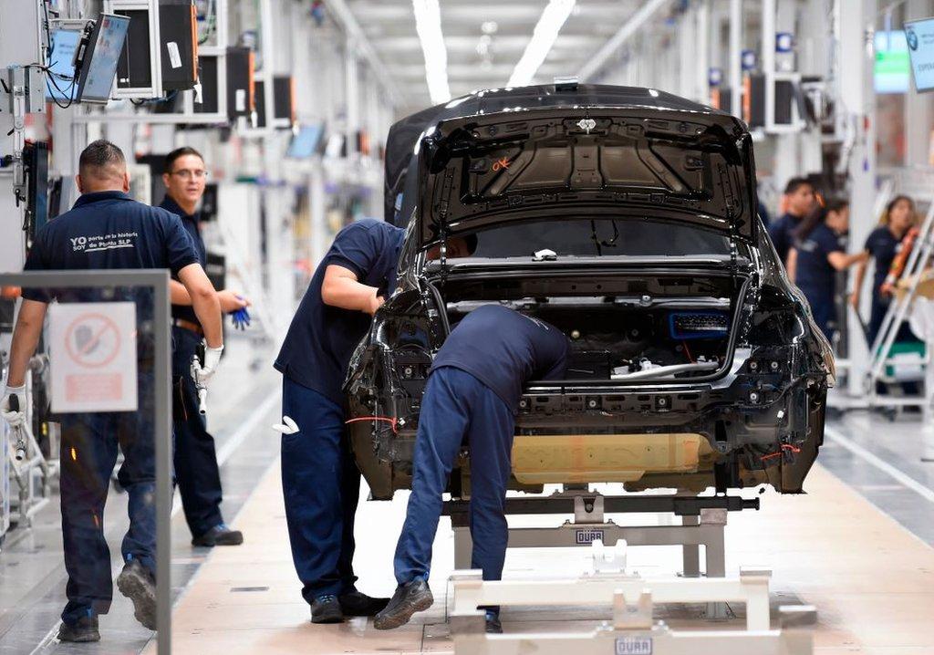 Una fábrica de autos en México