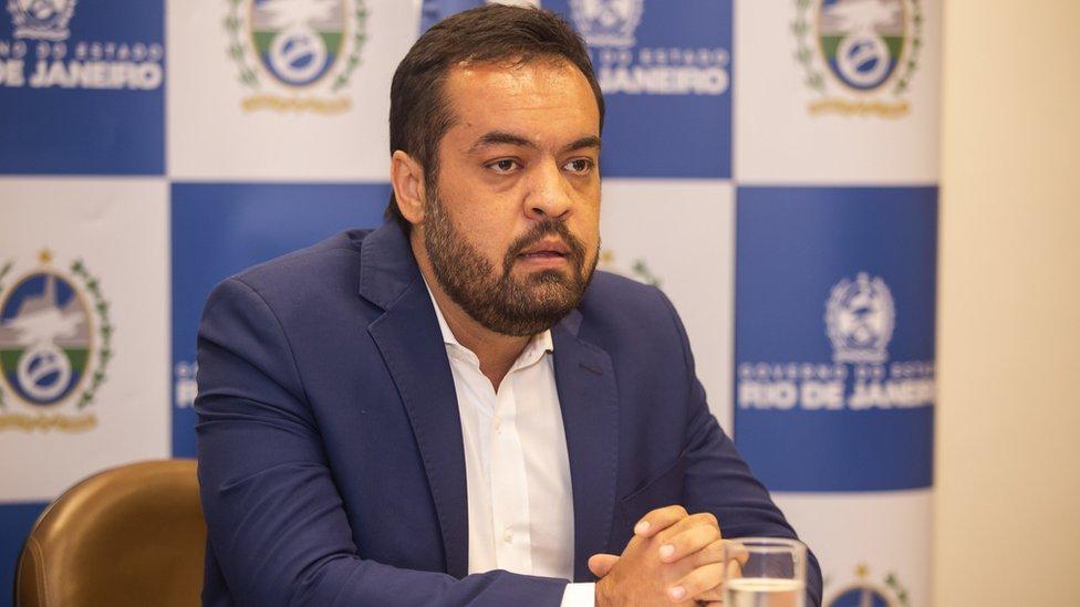 Governador em exercício, Cláudio de Castro,