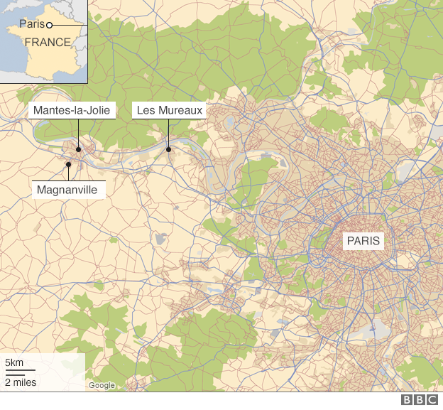 Map showing the location of the attack - 13 June 2016