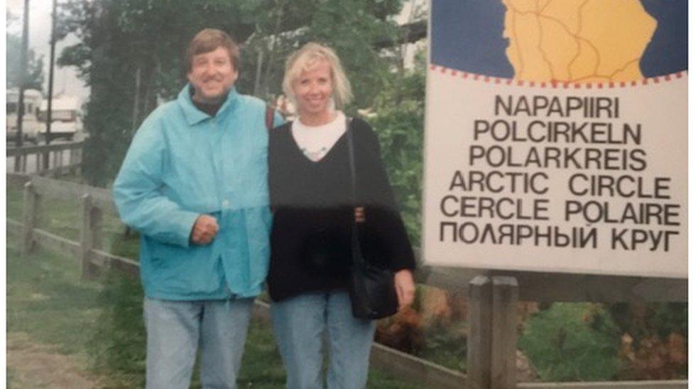 David and Liisa Crossland in 1999