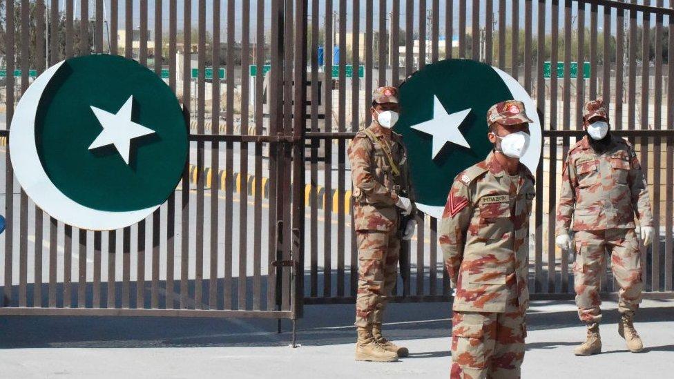 Pakistan-Iran border crossing at Taftan