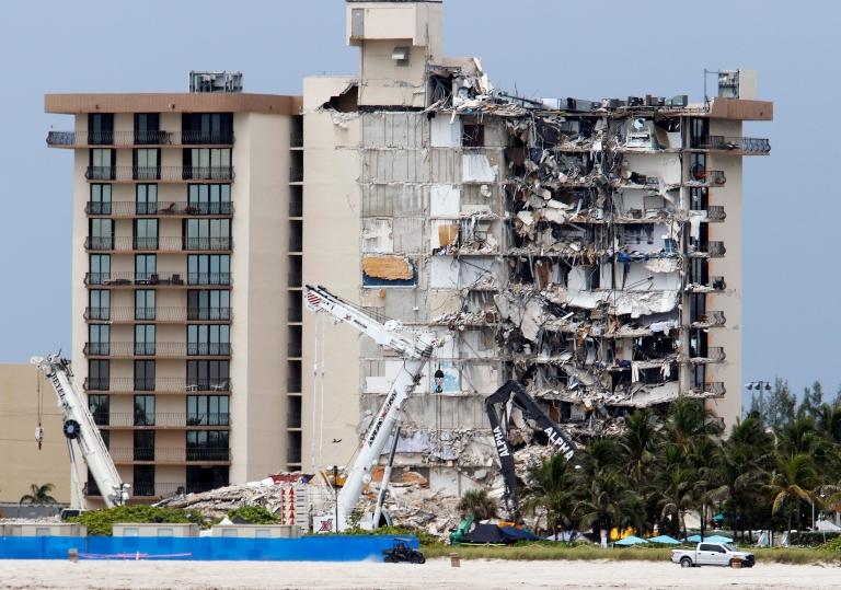 Imagen del edificio en ruinas.