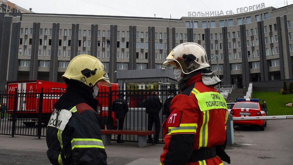 Firefighters at St George Hospital, 12 May 20