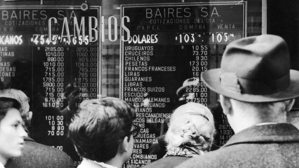 Casa de cambio en Buenos Aires en el 59
