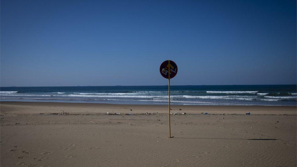 Prazna plaža Durban u Johanesburgu