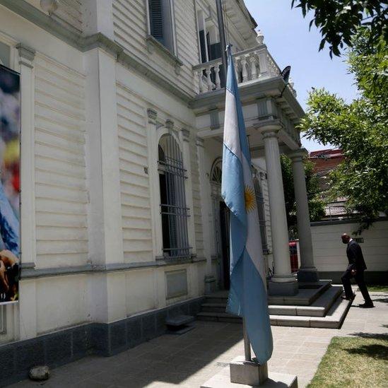La embajada de Argentina en La Paz