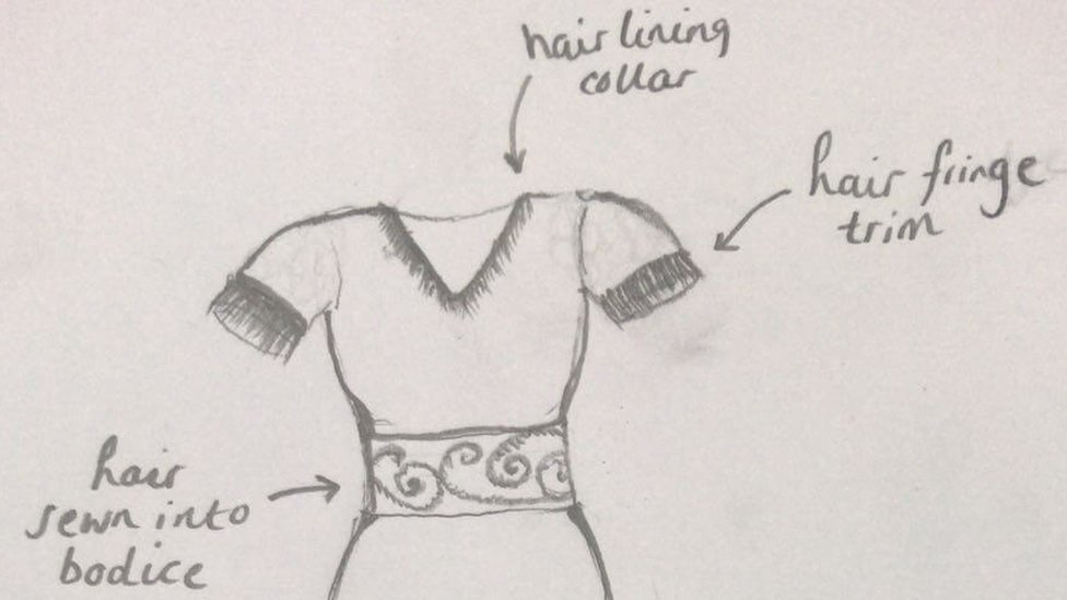 Top of the dress sketch