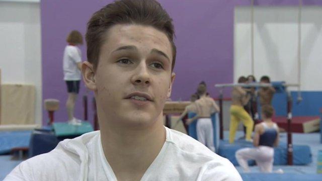 British gymnast Brinn Bevan