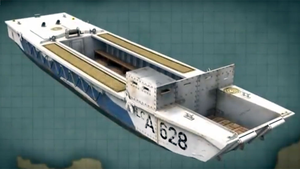 Ilustración de una lancha de desembarco Assault (LCA)