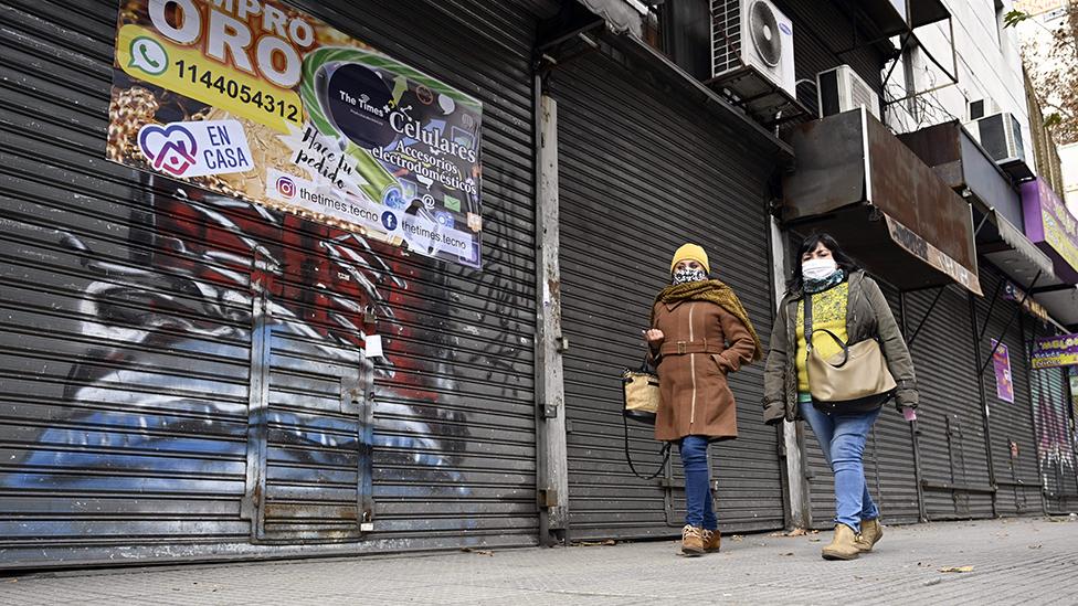 Negocios cerrados en Buenos Aires