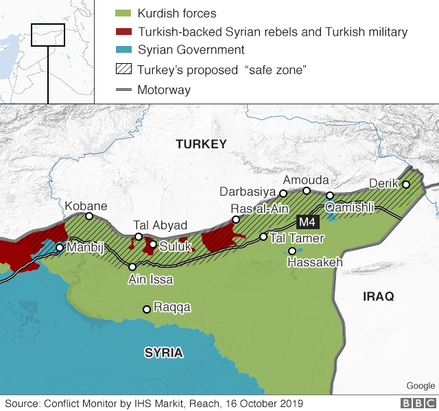 Us Safe Zones 2012 Map Turkey's Syria offensive explained in four maps   BBC News