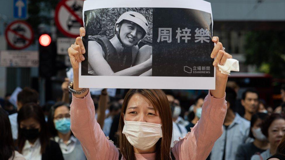 周梓樂是香港示威的重要符號。