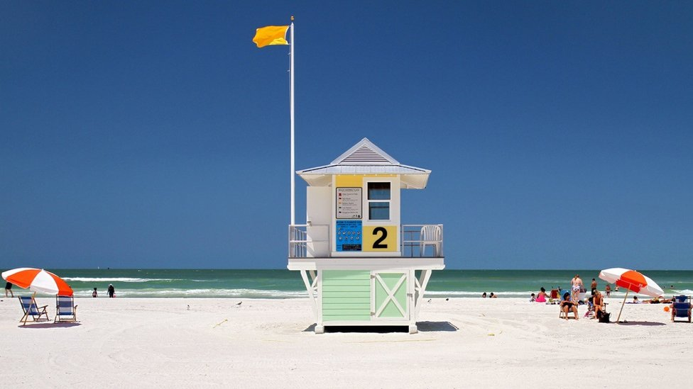 Clearwater Beach in Florida.