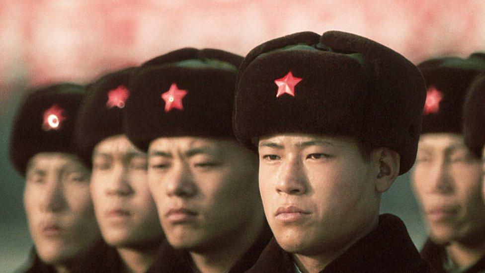 Soldados del Ejército Popular de Liberación, 1972.