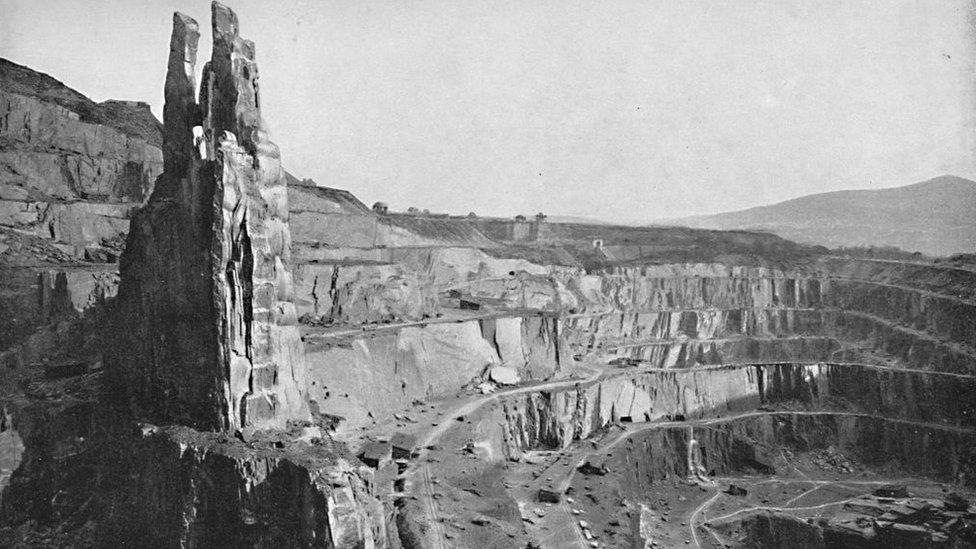 Penrhyn Quarry, Bethesda, in 1896