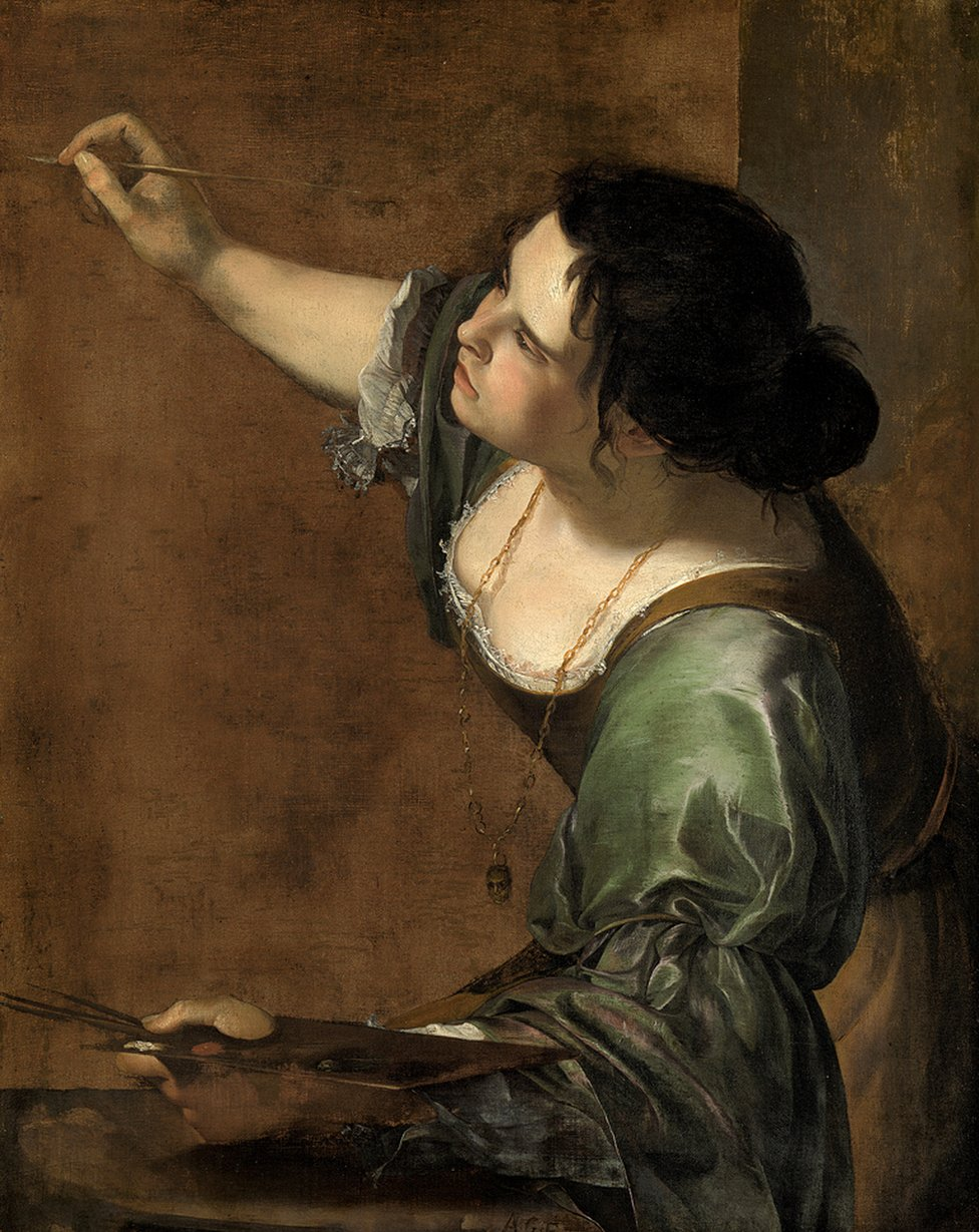 Self Portrait as the Allegory of Painting (La Pittura), about 1638-39 by Artemisia Gentileschi