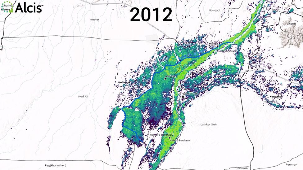 Cultivos en 2012.