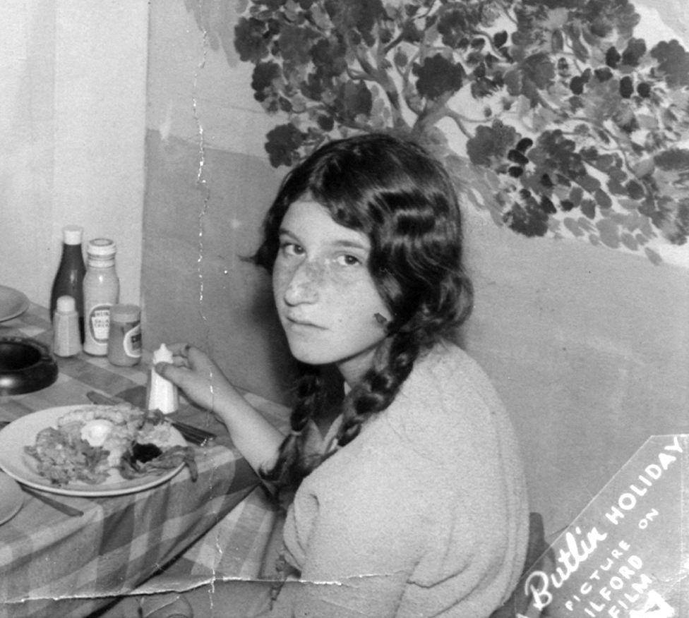 Margo pictured at Butlins Holiday Camp in Ayr, in 1966 or 1967