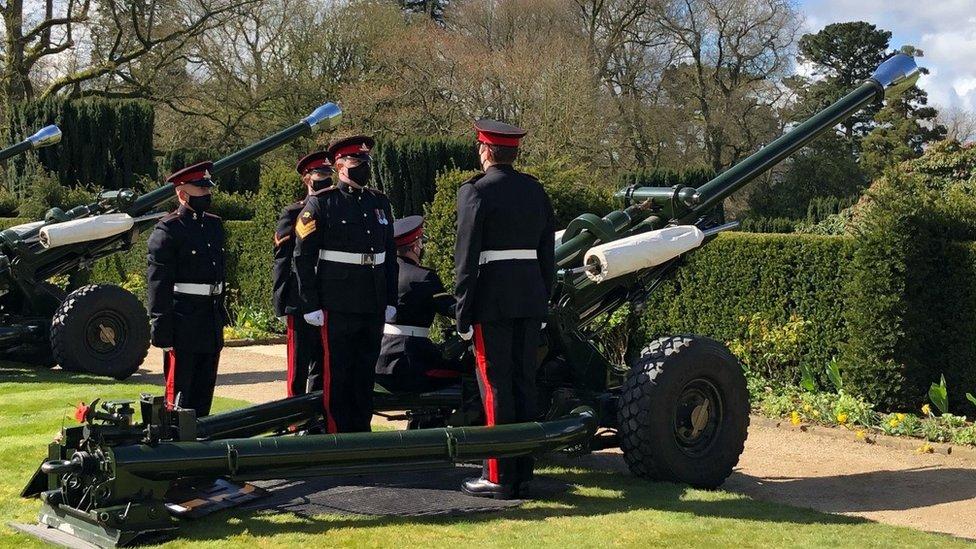 Hillsborough gun salute