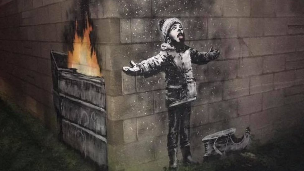 Banksy confirms Port Talbot 'Season's greetings' piece is his