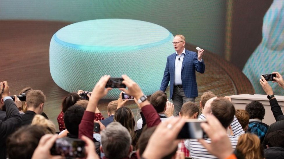 Dave Limp with Echo Dot