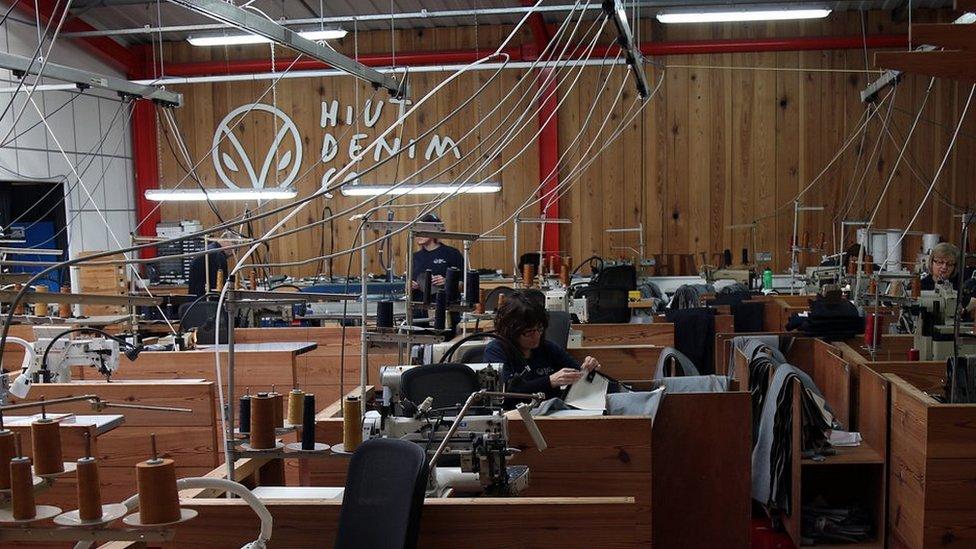 Hiut's production floor