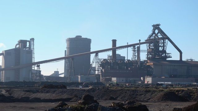 A Picture of the Redcar Steelworks