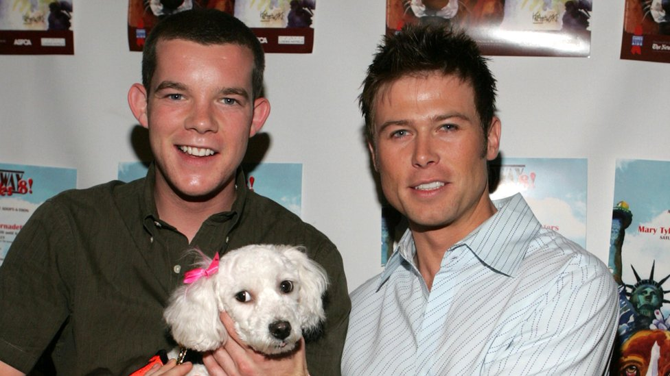 Russell Tovey and Jacob Young at a dog charity event