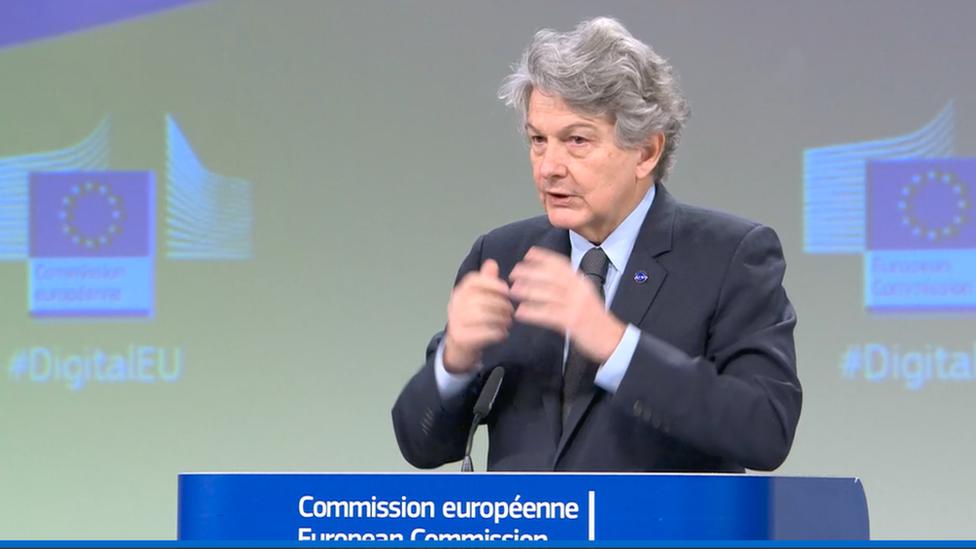 Internal Market Commissioner Thierry Breton