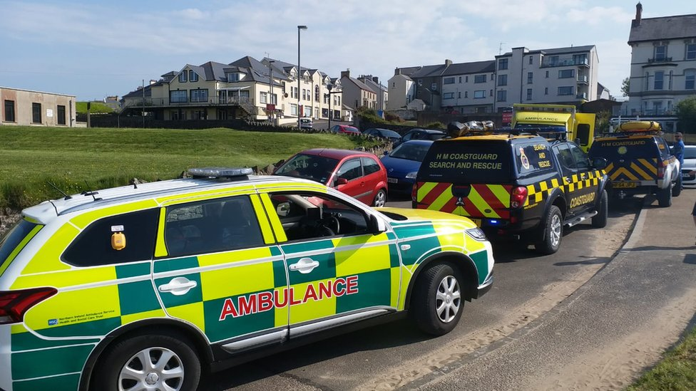 Castlerock: Man and children treated after sea incident