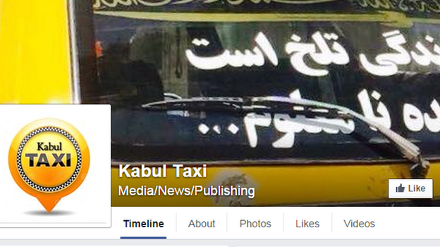 """The original Kabul Taxi. The writing in the window reads: """"Life is very hard and the future is uncertain."""""""