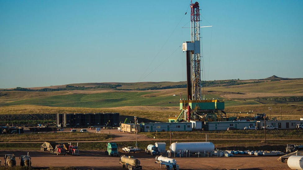 Explotación petrolera en Dakota del Norte.