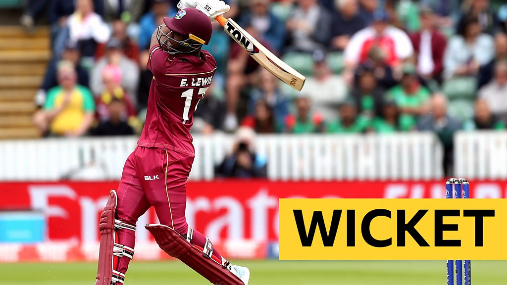 Cricket World Cup: West Indies' Evin Lewis hits a six then falls for 70