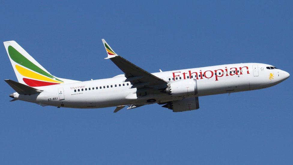 الطائرة الأثيوبية من طراز بوينغ 737 ماكس 8 التي تحطمت الأحد