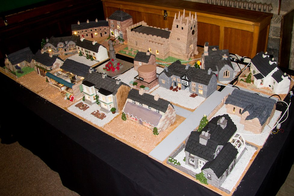 Village made from cake