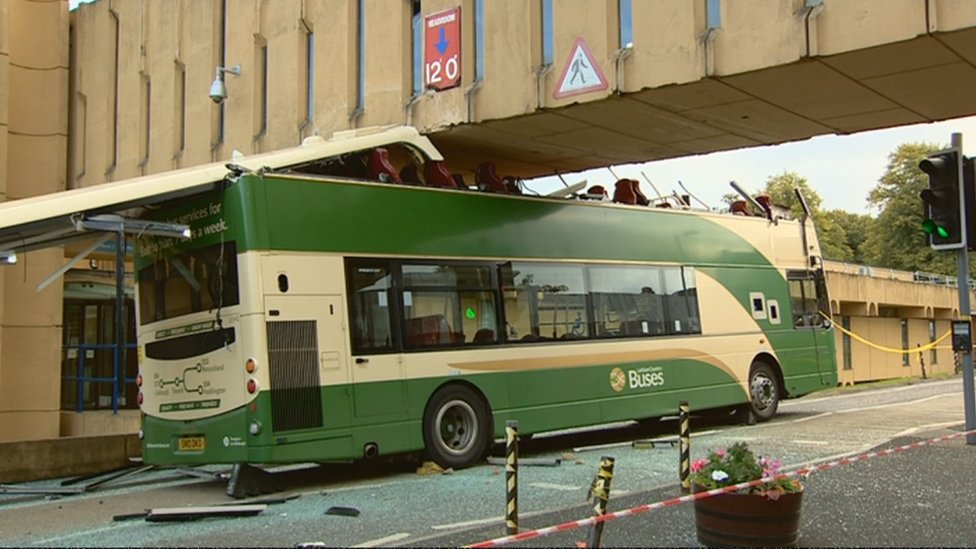 Driver charged over Edinburgh hospital bus crash