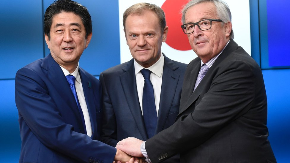 La alianza entre la UE y Japón cubrirá a casi un tercio del PIB mundial.