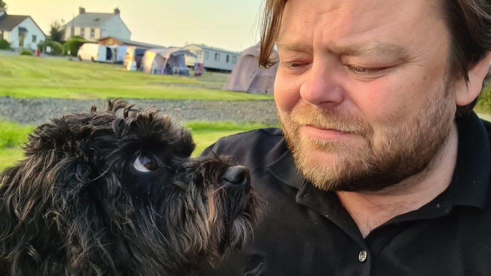 Carl and dog Billy