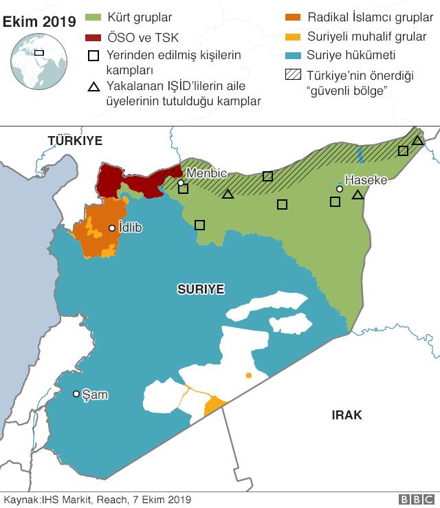 Kuzey Suriye haritası
