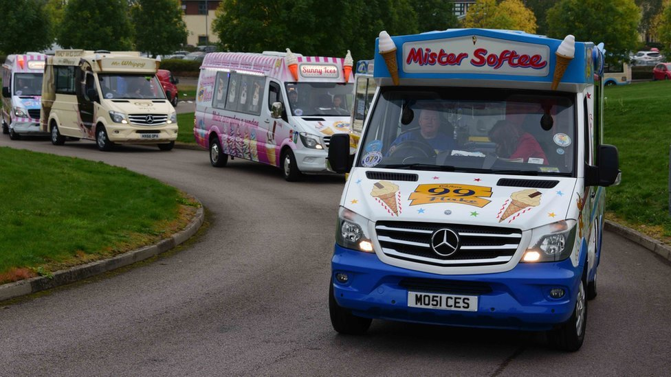 Ice cream vans scoop world record