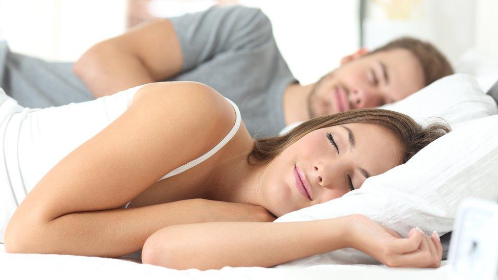Couple sleeping