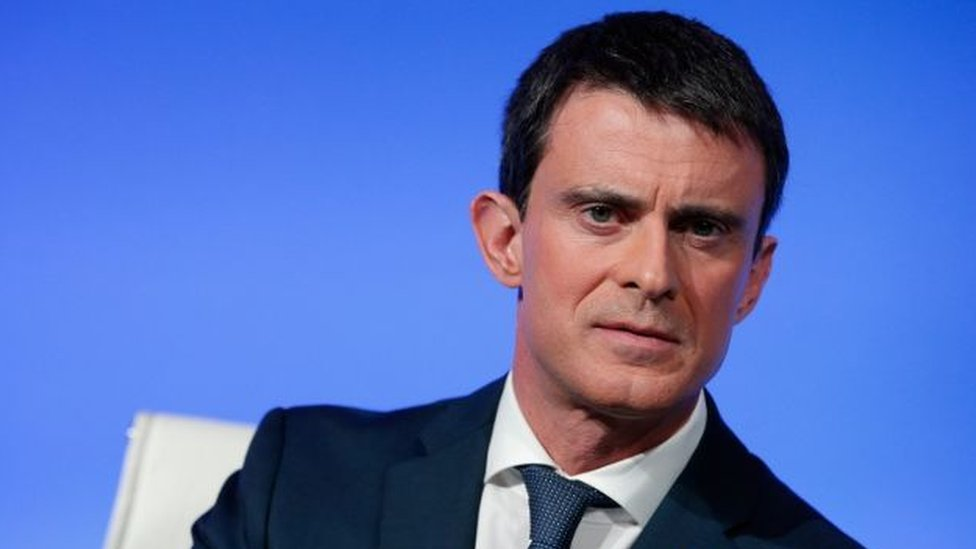 French Prime Minister Manuel Valls gives a press conference on 14 March 2016