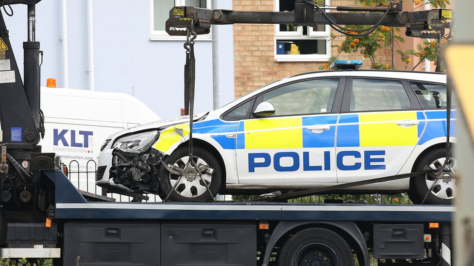 Man killed in Northampton police car crash named